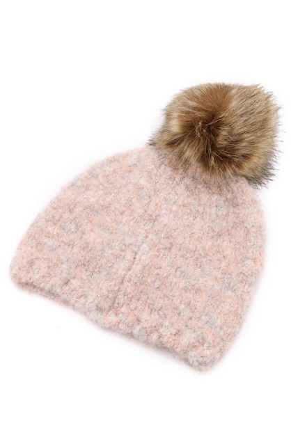 Knit Fur Beanie - orangeshine.com