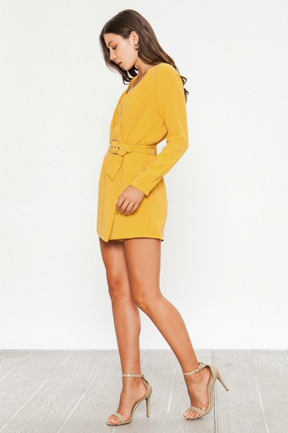 SURPLICE ROMPER WITH WRAP SKIRT - orangeshine.com