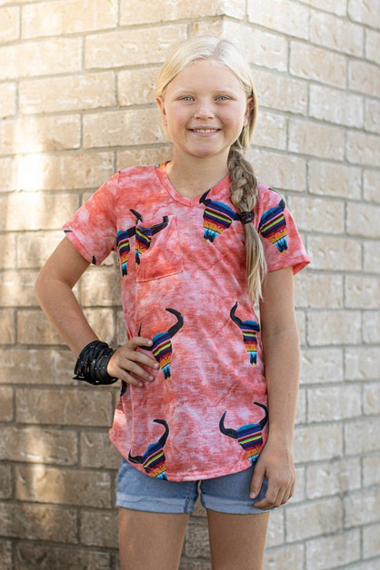 GIRLS SERAPE BULLHEAD POCKET TEE - orangeshine.com