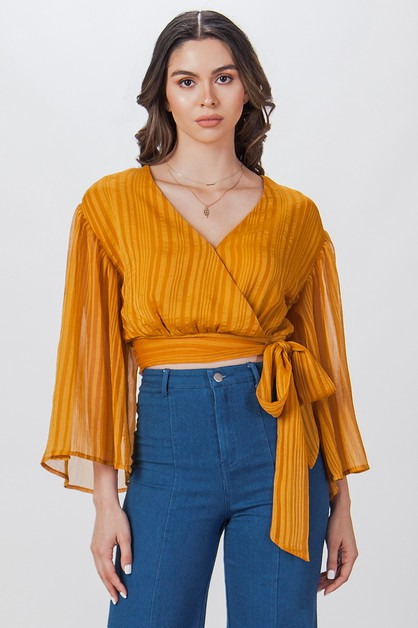 SURPLUS BODICE W LONG ANGEL SLEEVE - orangeshine.com