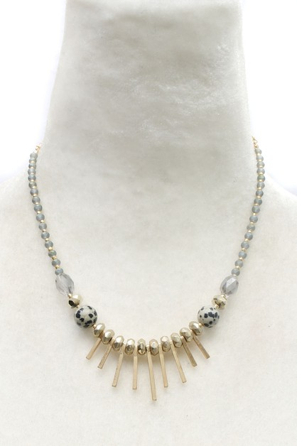 BEAD METAL NECKLACE - orangeshine.com
