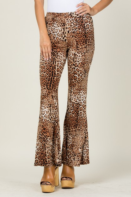LEOPARD PRINTED BELL BOTTOM PANTS - orangeshine.com