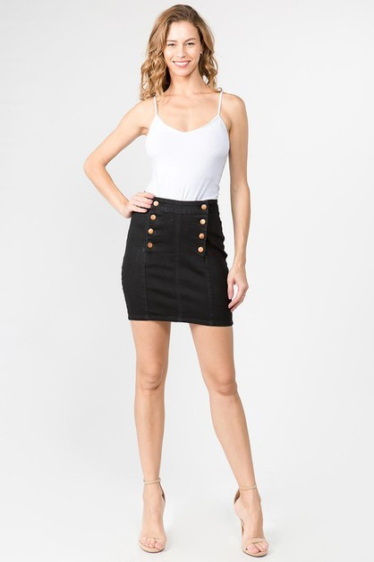 BUTTON UP SKINNY DENIM SKIRTS - orangeshine.com