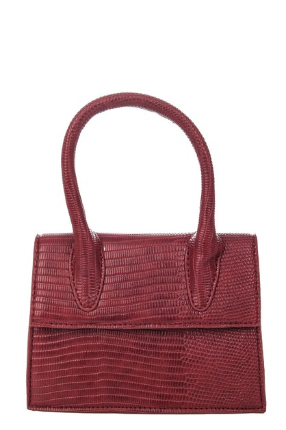 Faux Alligator Skin Handbag - orangeshine.com
