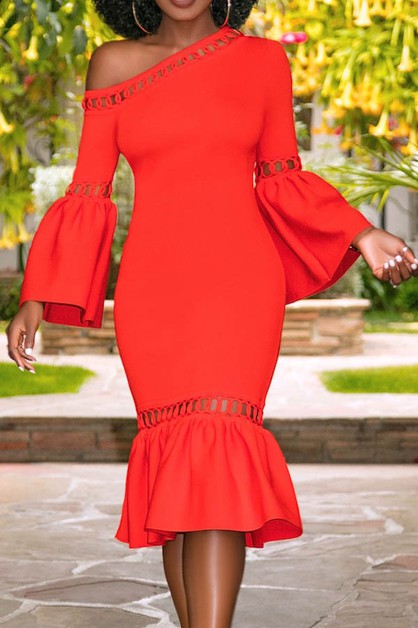 party dresses one off shoulder - orangeshine.com