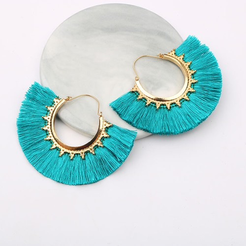 Boho round tassel earrings - orangeshine.com