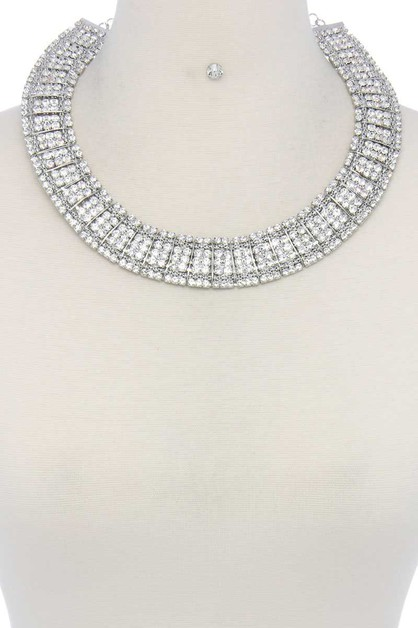 RHINESTONE NECKLACE - orangeshine.com