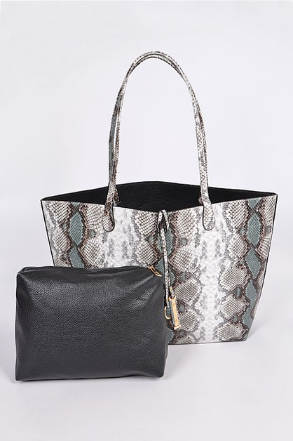 Snakeskin Satchel Set - orangeshine.com