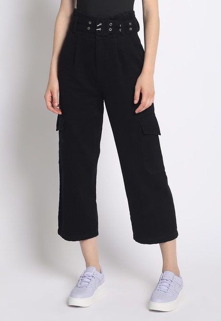WIDE LEG CARGO PANTS - orangeshine.com