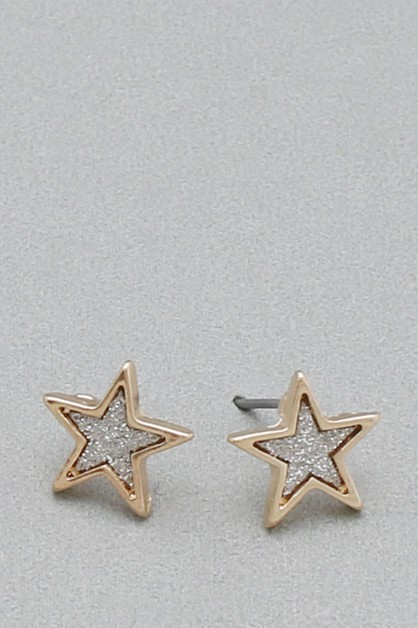 STAR METAL POST EARRING   - orangeshine.com