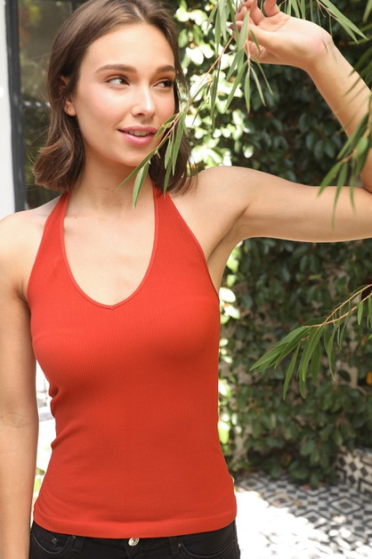 Ribbed Halter Top - orangeshine.com