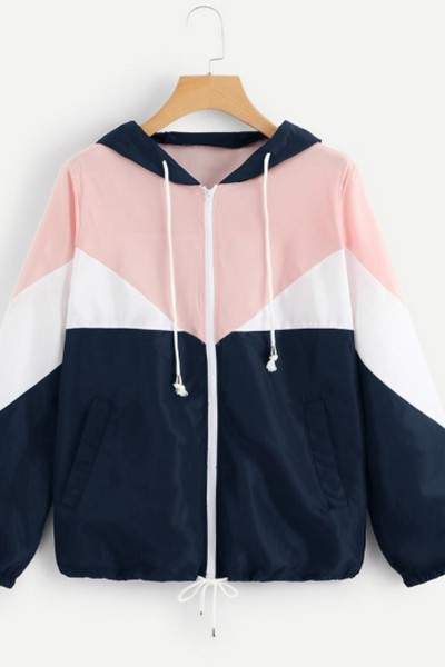 contrast hooded jacket - orangeshine.com