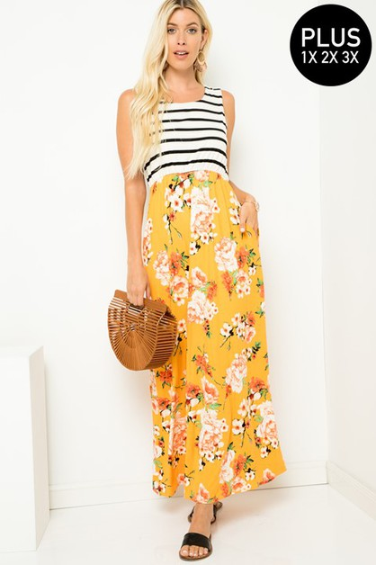 Side Pockets Maxi Dress   - orangeshine.com