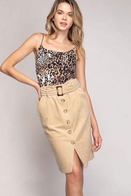 PAPERBAG SKIRT WITH BELT - orangeshine.com