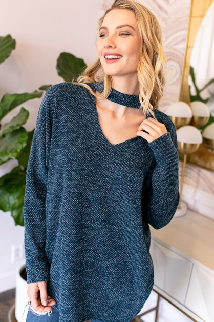 LAY BACK LOOSE FIT SWEATER TOP - orangeshine.com