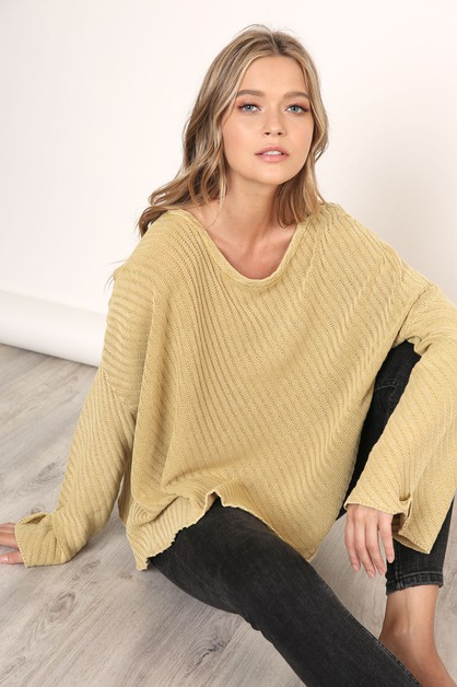 OVERSIZED LOOSE SWEATER - orangeshine.com