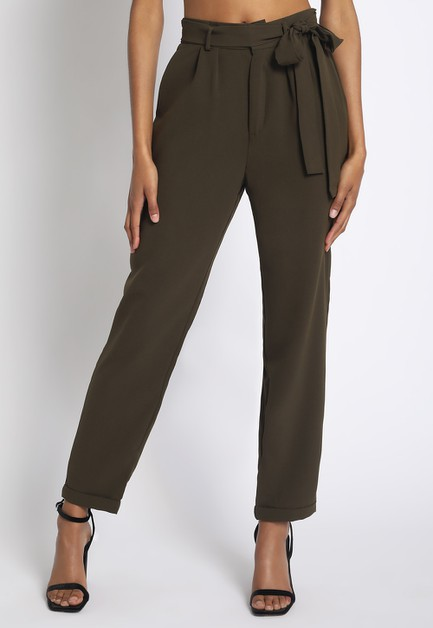 LOOSE PANTS WITH TIE WAIST - orangeshine.com