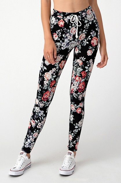 PRINT HIGH WAIST LEGGINGS - orangeshine.com