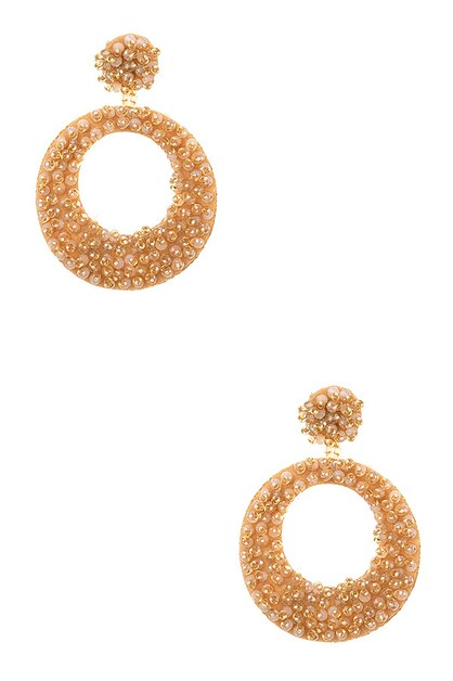 ROUND BEADED DROP EARRING - orangeshine.com