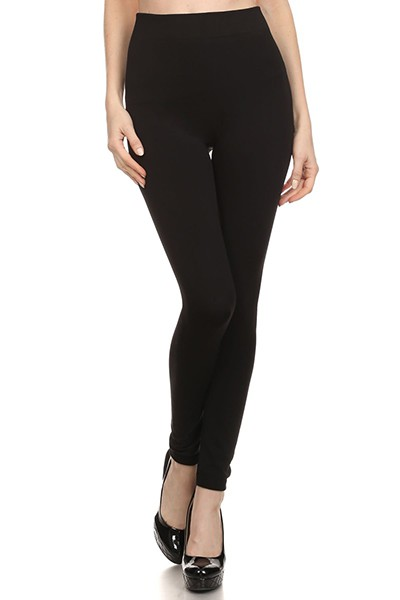REGULAR SIZE FLEECE LINED LEGGINGS - orangeshine.com