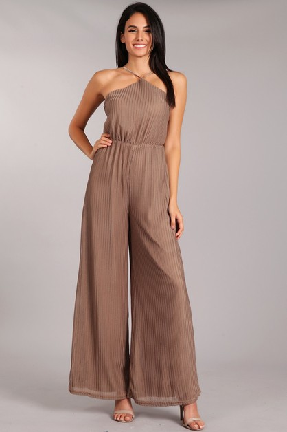 Halter Top Jumpsuit - orangeshine.com