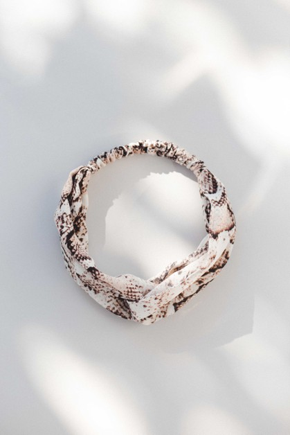 Snake Print Head Band - orangeshine.com