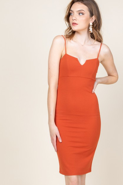 Cut out detail bodycon dress - orangeshine.com