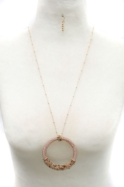 METAL PENDENTLONG  NECKLACE  SET - orangeshine.com