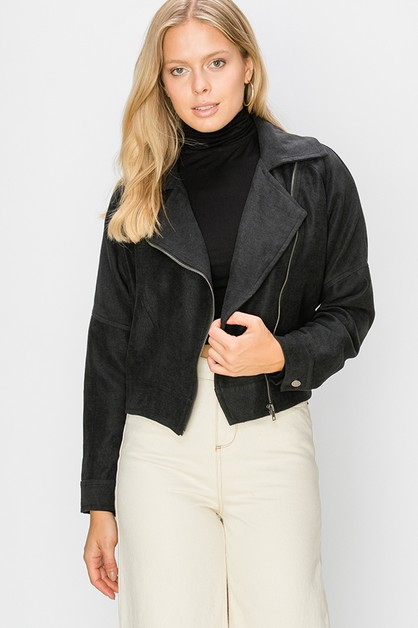 SIDE ZIP MOTO JACKET - orangeshine.com