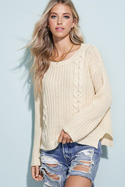 Knit Sweater Top - orangeshine.com