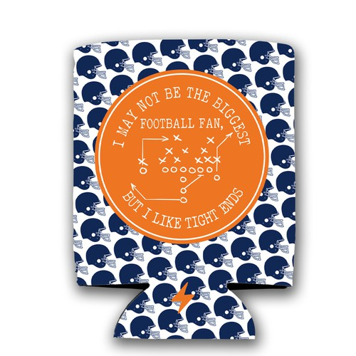 Tight Ends Football Koozie - orangeshine.com