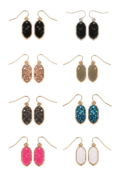 DRUZY DROP EARRINGS - orangeshine.com