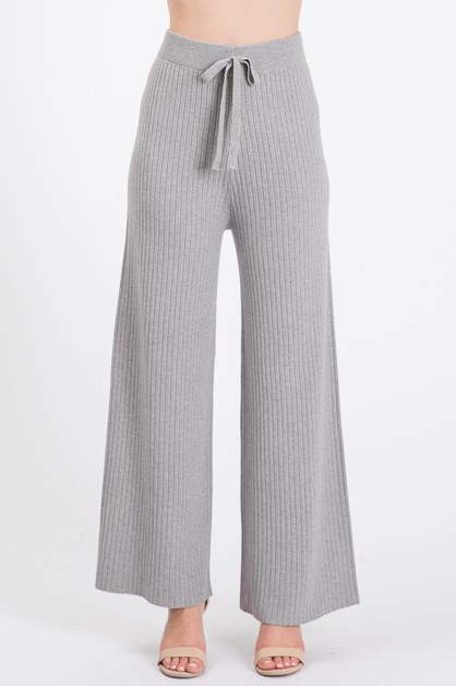 Sweater Pants with Elasticized Waist - orangeshine.com