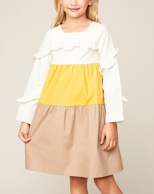Color Block Midi Tunic Dress - orangeshine.com