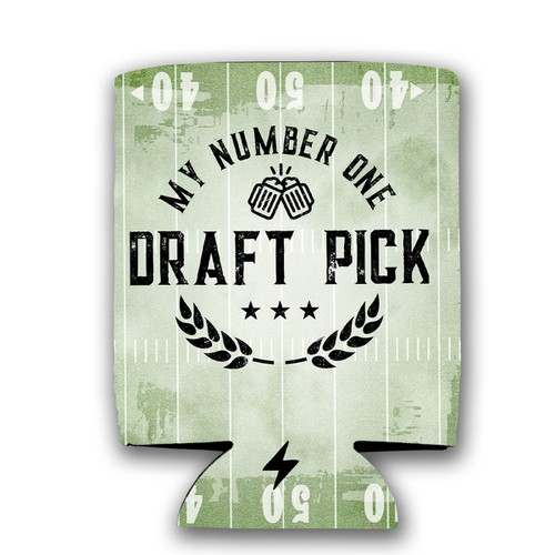 Number One Draft Pick Koozie - orangeshine.com
