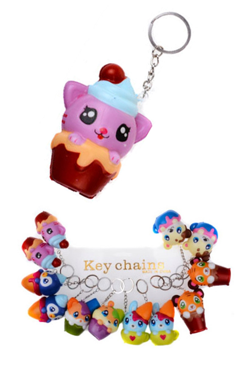 Animal Scented Squishy Key Ring - orangeshine.com
