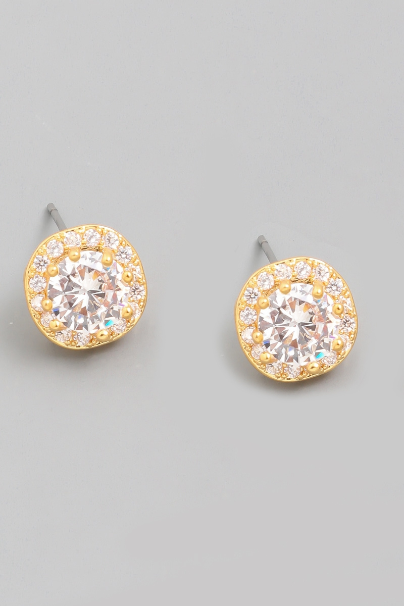 Crystal Rhinestone Stud Earrings - orangeshine.com