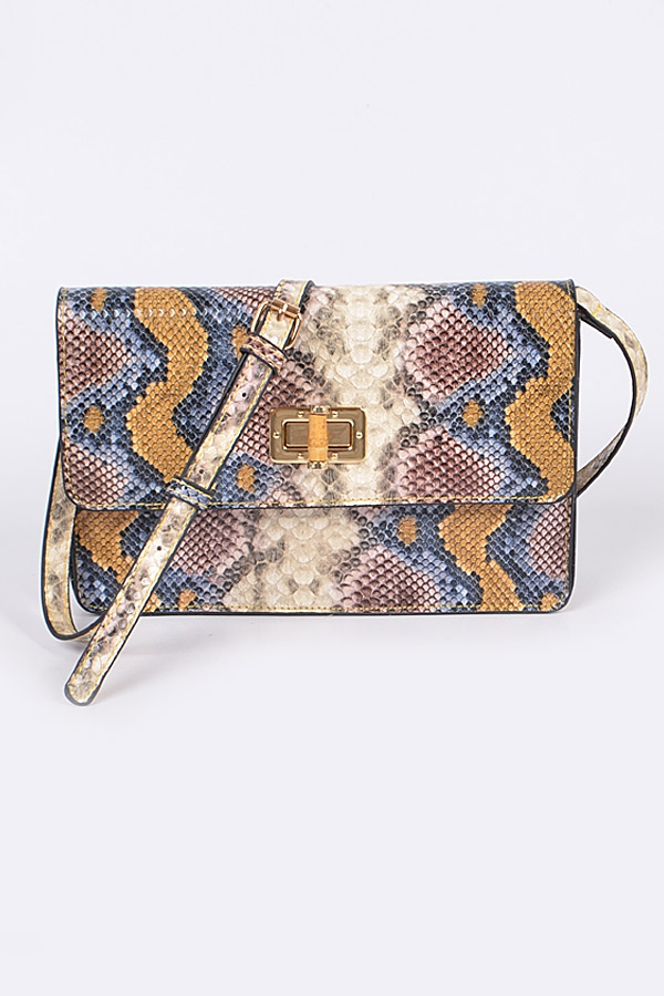 Snakeskin Mini Clutch - orangeshine.com