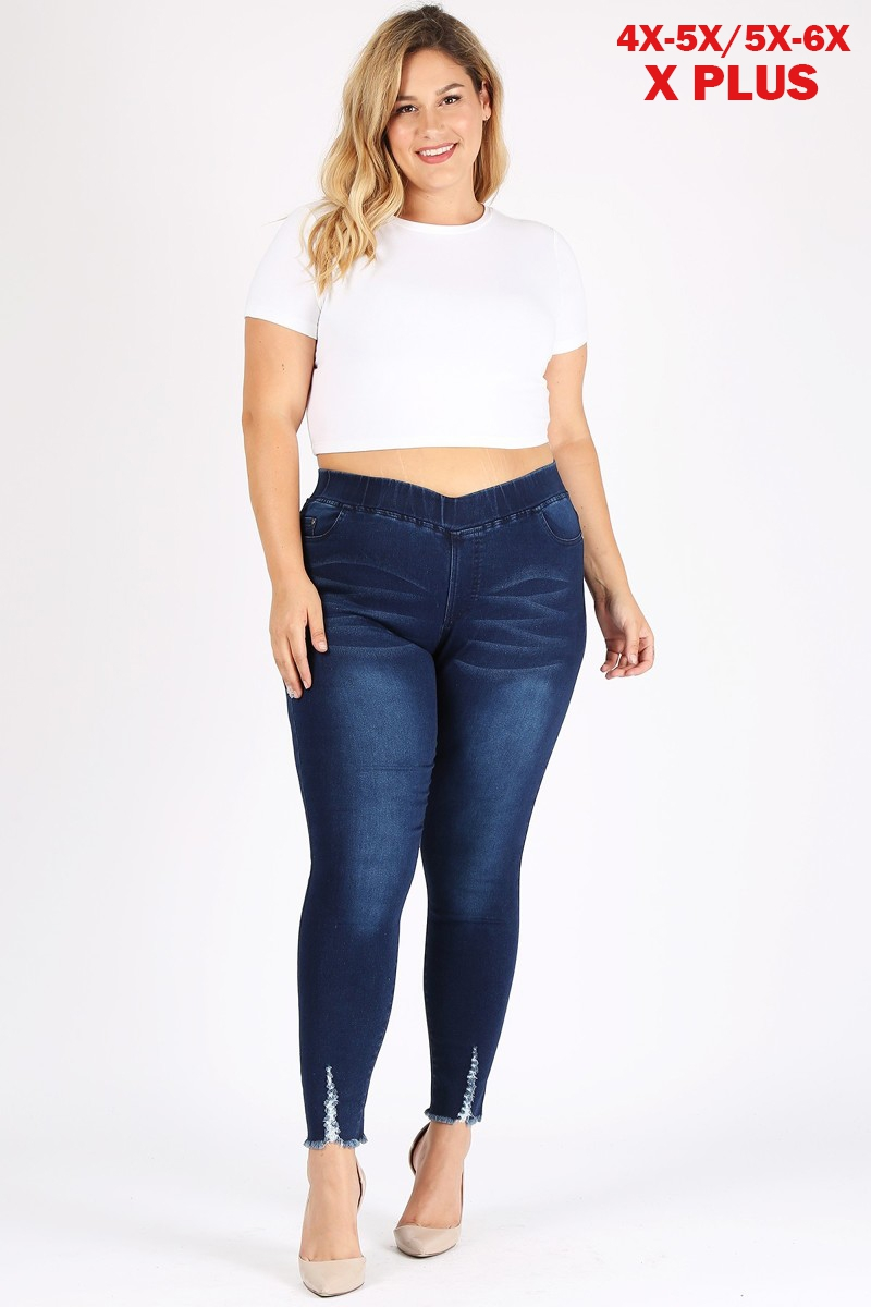 4X5X-5X6X Plus Jeggings Denim Pants - orangeshine.com