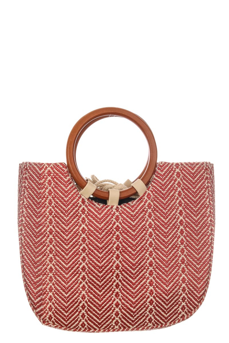 Chevron Pattern Top Handle Bag - orangeshine.com
