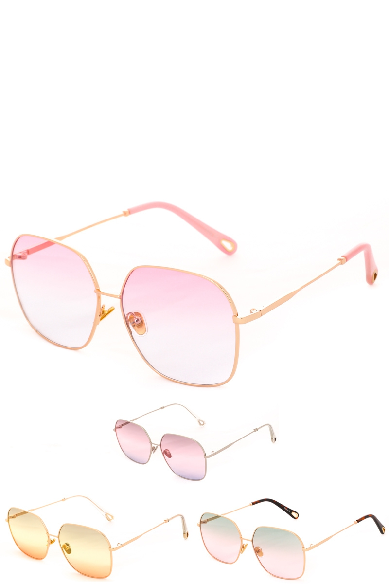 Oversized Metal Fashion Sunglasses - orangeshine.com