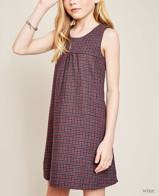Plaid Swing Dress - orangeshine.com