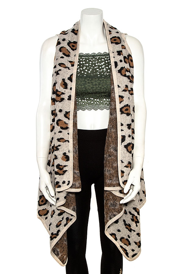 ANIMAL PRINT VEST  - orangeshine.com
