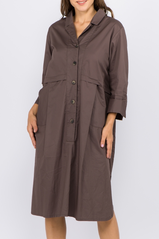 SHIRT DRESS WITH POCKETS - orangeshine.com