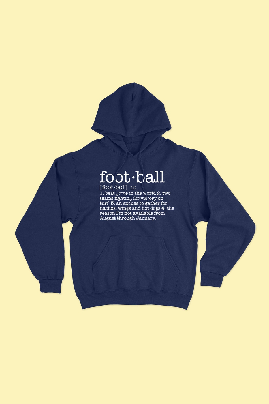 FOOTBALL GAME DAY HOODIE PLUS SIZE - orangeshine.com