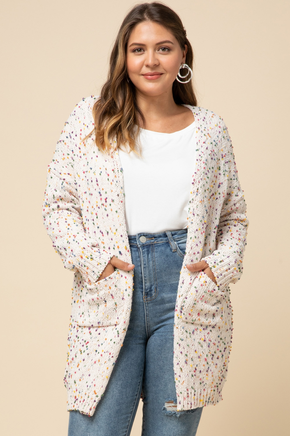 Speckled cardigan - orangeshine.com