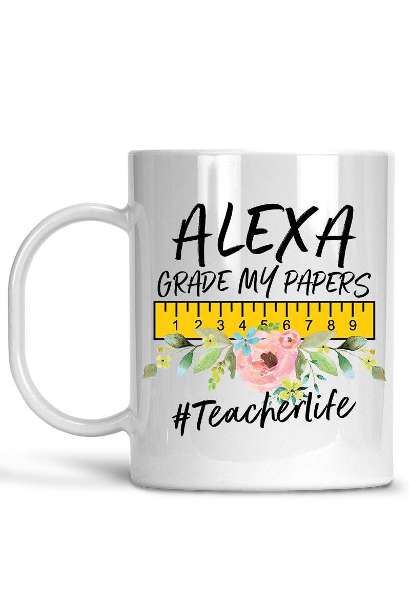 Alexa Grade my papers Coffee Mug - orangeshine.com