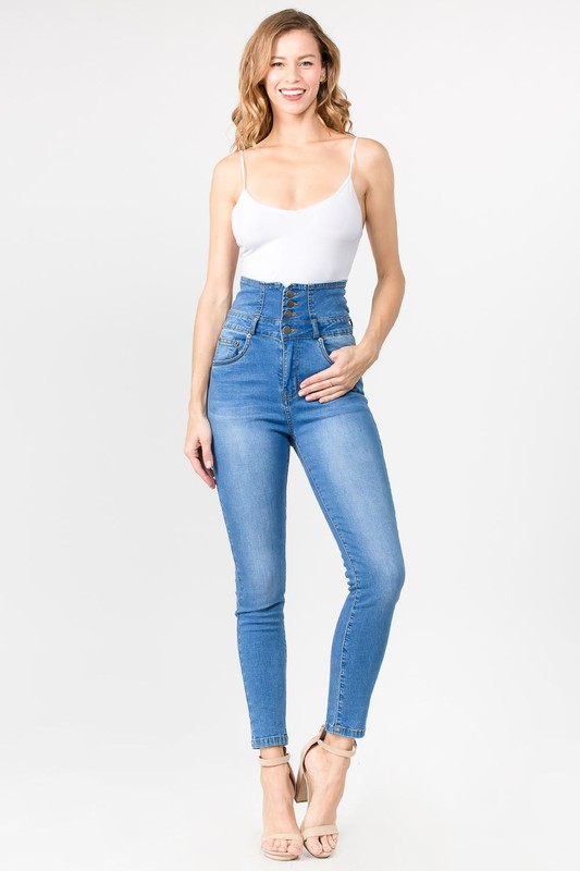 SUPER HIGH WAIST SKINNY JEANS - orangeshine.com