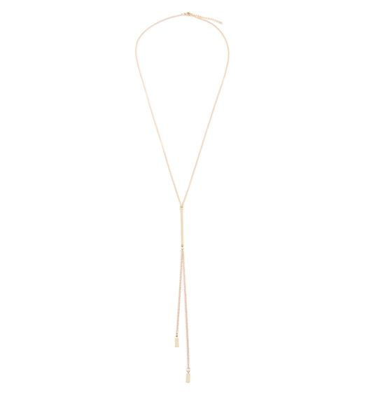 GOLD Y CHAIN LONG NECKLACE - orangeshine.com