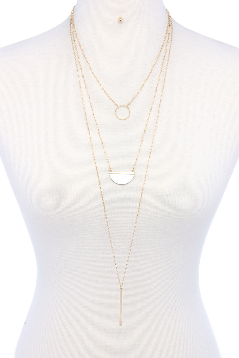 LAYERED FASHION NECKLACE - orangeshine.com